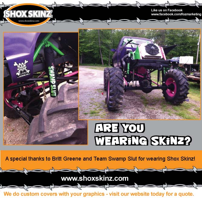 Brittany Green Team Swamp Slut shock covers for offroad vehicles