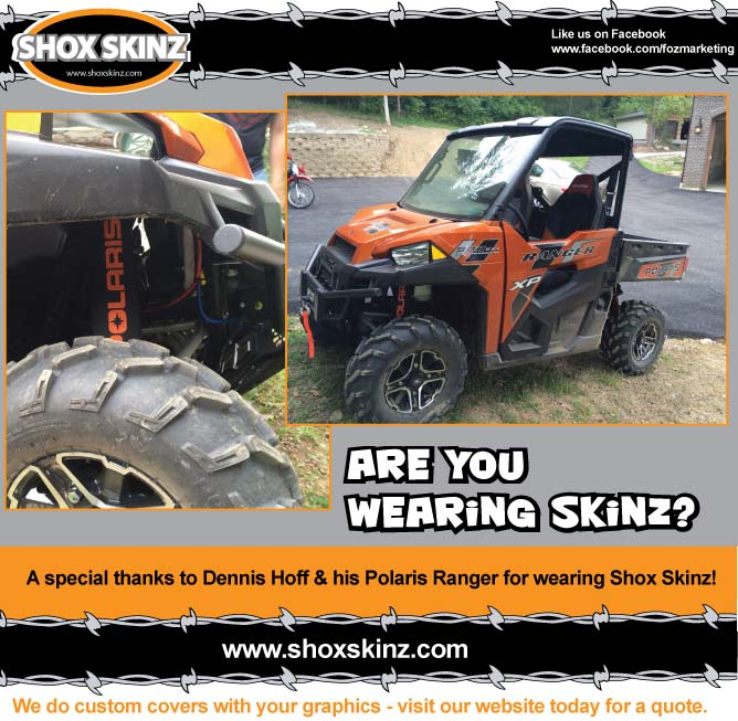 wearing shox skinz shock covers on your UTV, Dennis Hoff